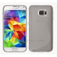 Housse etui coque pochette silicone gel fine pour Samsung G920F Galaxy S6 + film ecran - TRANSPARENT