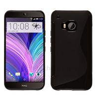 Housse etui coque pochette silicone gel fine pour HTC One M9 + film ecran - NOIR
