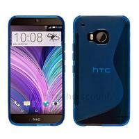 Housse etui coque pochette silicone gel fine pour HTC One M9 + film ecran - BLEU