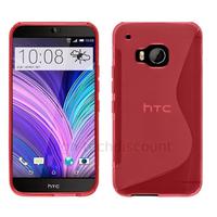 Housse etui coque pochette silicone gel fine pour HTC One M9 + film ecran - ROSE