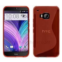 Housse etui coque pochette silicone gel fine pour HTC One M9 + film ecran - ROUGE