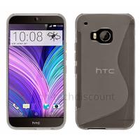 Housse etui coque pochette silicone gel fine pour HTC One M9 + film ecran - TRANSPARENT