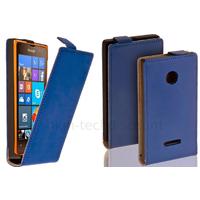 Housse etui coque pochette PU cuir fine pour Microsoft Lumia 532 + film ecran - BLEU