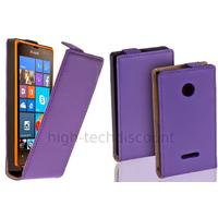 Housse etui coque pochette PU cuir fine pour Microsoft Lumia 532 + film ecran - MAUVE