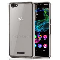 Housse etui coque pochette silicone gel fine pour Wiko Ridge 4G + film ecran - BLANC TRANSPARENT TPU