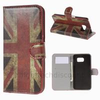 Housse etui coque pochette portefeuille PU cuir pour Samsung G920F Galaxy S6 + film ecran - UK