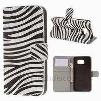 Housse etui coque pochette portefeuille PU cuir pour Samsung G920F Galaxy S6 + film ecran - ZEBRE