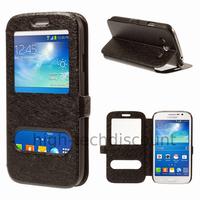 Housse etui coque portefeuille view case pour Samsung i9060 Galaxy Grand Neo Lite + film ecran - NOIR