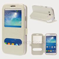 Housse etui coque portefeuille view case pour Samsung i9060 Galaxy Grand Neo Lite + film ecran - BLANC