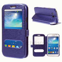 Housse etui coque portefeuille view case pour Samsung i9060 Galaxy Grand Neo Lite + film ecran - BLEU