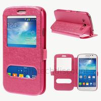 Housse etui coque portefeuille view case pour Samsung i9060 Galaxy Grand Neo Lite + film ecran - ROSE