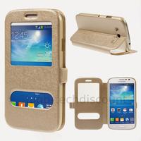 Housse etui coque portefeuille view case pour Samsung i9060 Galaxy Grand Neo Lite + film ecran - CHAMPAGNE
