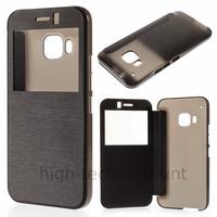 Housse etui coque pochette portefeuille view case pour HTC One M9 + film ecran - NOIR