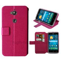 Housse etui coque pochette portefeuille pour Acer Liquid Z410 + film ecran - ROSE