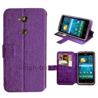 Housse etui coque pochette portefeuille pour Acer Liquid Z410 + film ecran - MAUVE