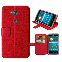 Housse etui coque pochette portefeuille pour Acer Liquid Z410 + film ecran - ROUGE