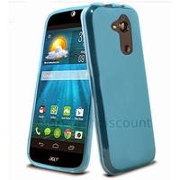 Housse etui coque pochette silicone gel fine pour Acer Liquid Z410 + film ecran - BLEU TPU