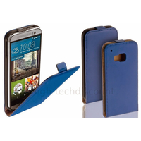 Housse etui coque pochette PU cuir fine pour HTC One M9 + film ecran - BLEU