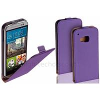 Housse etui coque pochette PU cuir fine pour HTC One M9 + film ecran - MAUVE