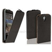 Housse etui coque pochette PU cuir fine pour HTC Desire 620 + film ecran - NOIR