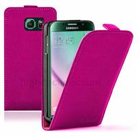 Housse etui coque pochette PU cuir fine pour Samsung G920F Galaxy S6 + film ecran - ROSE