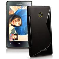 Housse etui coque pochette silicone gel fine pour Microsoft Lumia 532 + film ecran - NOIR
