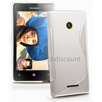 Housse etui coque pochette silicone gel fine pour Microsoft Lumia 532 + film ecran - BLANC