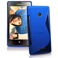 Housse etui coque pochette silicone gel fine pour Microsoft Lumia 532 + film ecran - BLEU