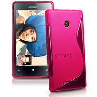 Housse etui coque pochette silicone gel fine pour Microsoft Lumia 532 + film ecran - ROSE
