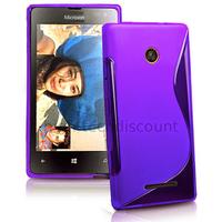 Housse etui coque pochette silicone gel fine pour Microsoft Lumia 435 + film ecran - MAUVE