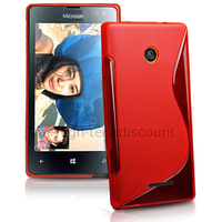 Housse etui coque pochette silicone gel fine pour Microsoft Lumia 532 + film ecran - ROUGE