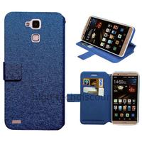 Housse etui coque pochette portefeuille pour Huawei Ascend Mate 7 + film ecran - BLEU