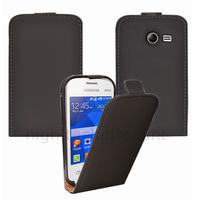 Housse etui coque PU cuir fine pour Samsung G110H Galaxy Pocket 2 + film ecran - NOIR