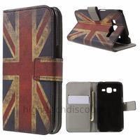Housse etui coque pochette portefeuille PU cuir pour Samsung G360H Galaxy Core Prime + film ecran - UK