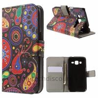 Housse etui coque pochette portefeuille PU cuir pour Samsung G360H Galaxy Core Prime + film ecran - PAISLEY