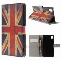 Housse etui coque pochette portefeuille PU cuir pour Sony Xperia M4 Aqua + film ecran - UK