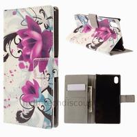 Housse etui coque pochette portefeuille PU cuir pour Sony Xperia M4 Aqua + film ecran - LOTUS