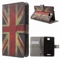 Housse etui coque pochette portefeuille PU cuir pour Sony Xperia E4 Dual + film ecran - UK