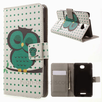 Housse etui coque pochette portefeuille PU cuir pour Sony Xperia E4 Dual + film ecran - HIBOU