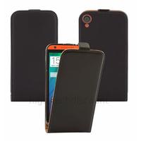 Housse etui coque pochette PU cuir fine pour HTC Desire 820 + film ecran - NOIR