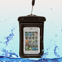 Housse etui pochette etanche waterproof pour Samsung i9190 Galaxy S4 Mini - NOIR