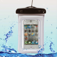 Housse etui pochette etanche waterproof pour Alcatel One Touch Pop D3 (4035) - BLANC