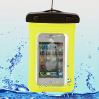 Housse etui pochette etanche waterproof pour Alcatel One Touch Pop 2 (4.0) 4045D - JAUNE