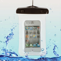 Housse etui pochette etanche waterproof pour Alcatel One Touch Pop 2 (4.0) 4045D - TRANSPARENT