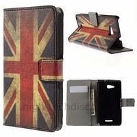 Housse etui coque pochette portefeuille PU cuir pour Sony Xperia E4g + film ecran - UK