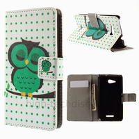 Housse etui coque pochette portefeuille PU cuir pour Sony Xperia E4g + film ecran - HIBOU