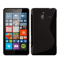 Housse etui coque pochette silicone gel fine pour Microsoft Lumia 640 XL LTE + film ecran - NOIR