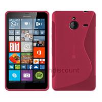 Housse etui coque pochette silicone gel fine pour Microsoft Lumia 640 XL LTE + film ecran - ROSE
