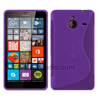Housse etui coque pochette silicone gel fine pour Microsoft Lumia 640 XL LTE + film ecran - MAUVE