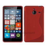 Housse etui coque pochette silicone gel fine pour Microsoft Lumia 640 XL LTE + film ecran - ROUGE